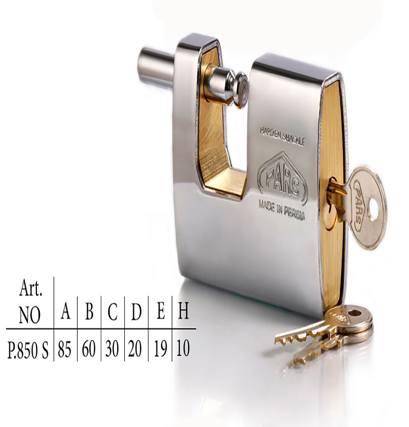 قفل کتابی برنجی ۸۵۰ روپوشدار با کلید معمولی
