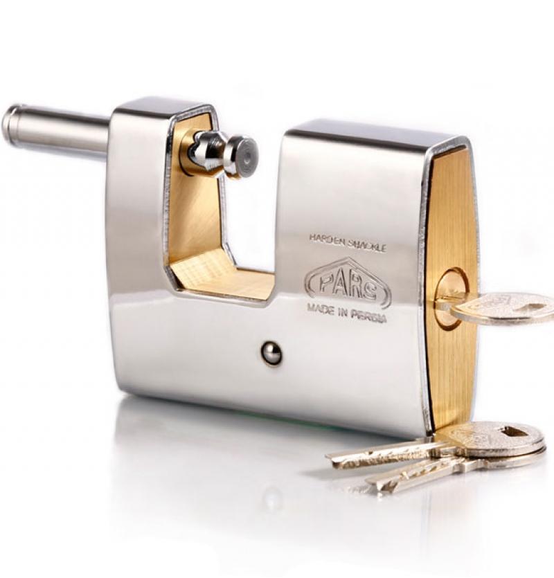قفل کتابی برنجی ۹۵۰ روپوشدار کلید ویژه